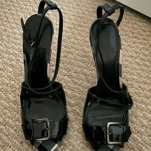 Burberry open-toe heels